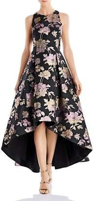 Aidan Mattox Jacquard High-Low Dress