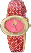 Vivienne Westwood Women's VV014PKPK Ellipse II Analog Display Swiss Quartz Watch