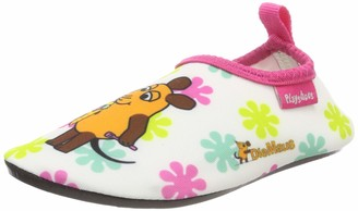 Playshoes Girl's Barefoot Aqua Socks with UV Protection Die Maus Flowers Water Shoes