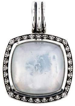 David Yurman Quartz, Mother of Pearl Doublet & Diamond Albion Pendant