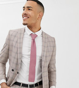 Twisted Tailor Tall super skinny double breasted suit jacket in mini check