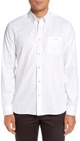 Ted Baker Men's 'The Monk' Trim Fit Diamond Pattern Dress Shirt