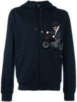 Dolce & Gabbana cowboy patch zipped hoodie