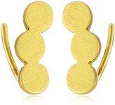 Gorjana Matte Gold Circle Ear Climber Stud Earrings