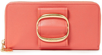 See by Chloe Hopper Pebbled-leather Wallet