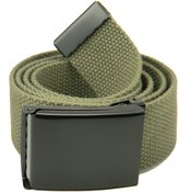 Build A Belt Wide 1.5 Black Flip Top Men's Belt Buckle with Canvas Web Belt X-Large