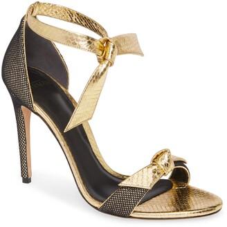 Alexandre Birman Clarita Fab Genuine Snakeskin Ankle Tie Sandal