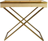 Ave Home Audrey Butler Tray Table - Natural/Gold