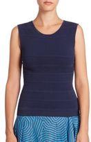 Akris Punto Textured Knit Shell Top