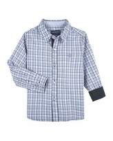 Andy & Evan Checkered Dressy Button-Down Shirt, Size 2-7