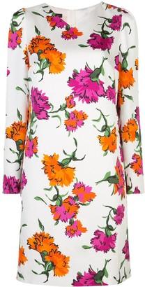 Escada Floral Print Midi Dress