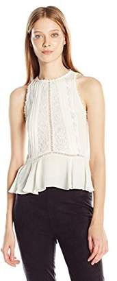 Rebecca Taylor Women's Sl GGT and Lace Top