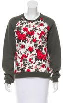 MSGM Floral Quilt-Accented Sweatshirt