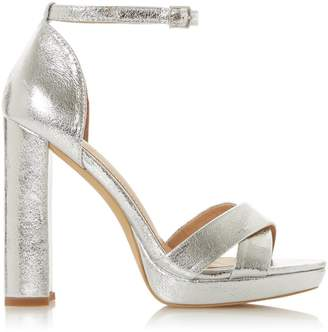 Dorothy Perkins Womens *Head Over Heels By Dune Silver 'Mamba' Ladies High Heel Sandals, Silver