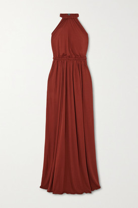 Matteau + Net Sustain Gathered Jersey Halterneck Maxi Dress
