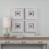 The Well Appointed House Set of Four Shadow Box Style Sea Urchins Wall Art