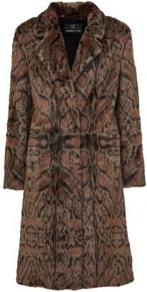 Unreal Fur Maze leopard-print coat