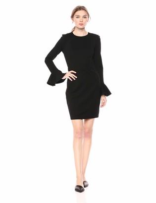 Ali & Jay Women's Long Sleeve Stretch Ponte Knit Sheath Dress Black-Pavillion Party xs