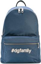 Dolce & Gabbana Volcano #dgfamily backpack - men - Calf Leather/Acrylic/Nylon/Polypropylene - One Size