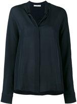 Vince Navy blue long sleeve shirt - women - Silk - 4