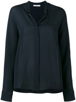 Vince Navy blue long sleeve shirt - women - Silk - 8