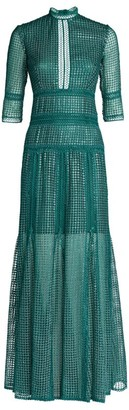 Costarellos Trina Sequin-Embellished Midi Dress