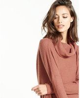 Express plush jersey draped cowl back tee