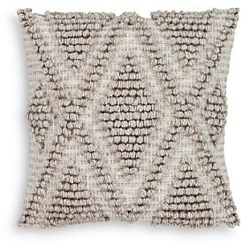 Surya Anders Textured Light Gray Throw Pillow, 22 x 22