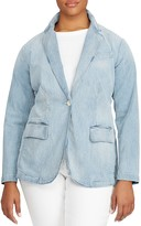 Lauren Ralph Lauren Plus Denim Blazer