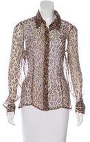 Dolce & Gabbana Silk Leopard Print Top
