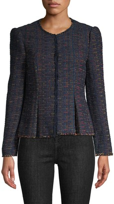 Rebecca Taylor Tweed Button-Front Jacket