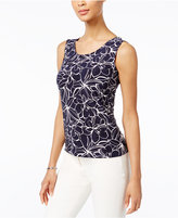 JM Collection Petite Printed Jacquard Tank, Only at Macy's