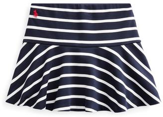 Ralph Lauren Striped Stretch Ponte Skort