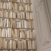 Graham and Green Ivory Library Wallpaper