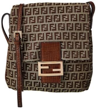 Fendi Brown Zucca-Print Canvas Messenger Bag