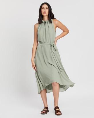 SABA Willa High Neck Midi Dress