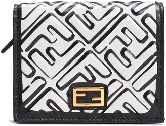 Fendi x Joshua Vides Small Baguette FF Logo Leather Wallet
