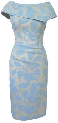 Mellaris Olympia Dress Pale Blue Metallic Jacquard