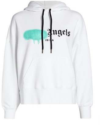 Palm Angels Ibiza Sprayed Logo Hoodie