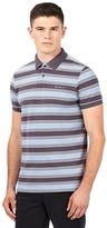 Ben Sherman Grey Striped Logo Polo Shirt