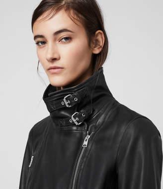 AllSaints Bales Leather Biker Jacket