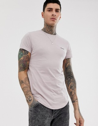 Religion t-shirt with panel detail in dusty pink