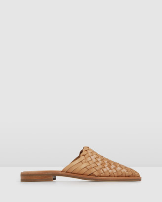 Jo Mercer - Women's Brown Flat Sandals - Weaver Casual Flats - Size One Size, 36 at The Iconic