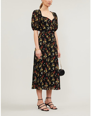 Reformation Wildflower floral-print woven maxi dress
