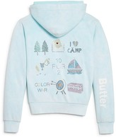 Butter Shoes Girls' Camping Mineral Wash Hoodie - Big Kid