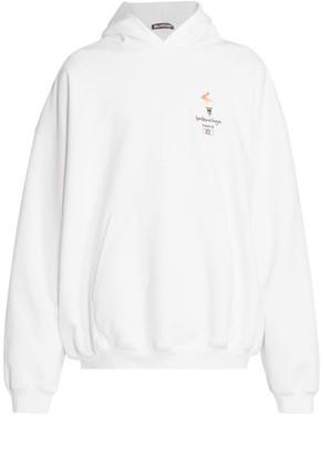 Balenciaga Flame Graphic Hoodie