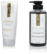 At the Spa Combo- Ladies Body Hair Removal Dead Sea Mud Cream & Tranquilizing Body wash