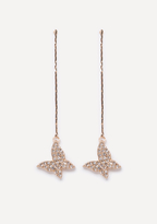Bebe Butterfly Linear Earrings