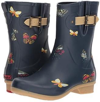 Chooka Butterfly Mid Rain Boots (Navy) Women's Rain Boots