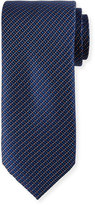 Neiman Marcus Dotted and Square Woven Tie, Navy